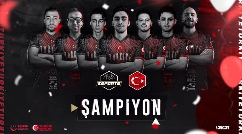"""Türkiye Espor Basketbol Milli Takımı """"FIBA Esports Open III Turnuvası""""nda Şampiyon Oldu"""