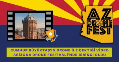 Cumhur Büyüktaş ve Yasin Fedakar'ın Videosu Arizona Drone Film Festivali'nde Birinci Oldu